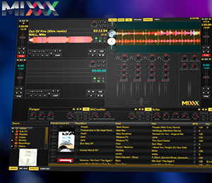 DJ-Software MIXXX Screenshot