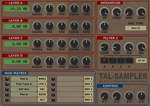 TAL-Sampler Screenshot
