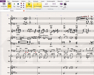 Avid Sibelius Screenshot