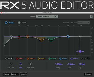 iZotope RX Audio Editor - Corrective EQ Screenshot