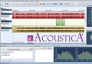Audio Editor Acoustica Screenshot