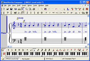 Screenshot NoteWorthy Composer