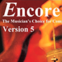 Logo: Encore - Notensatz-Programm mit Percussion-Notation